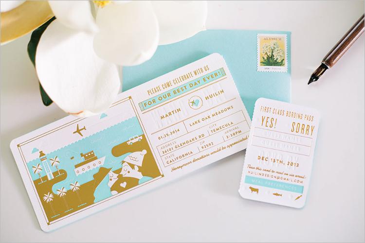 Free Boarding Pass Invitation Template