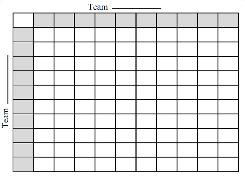 33 printable football square templates free excel word With free printable football squares template
