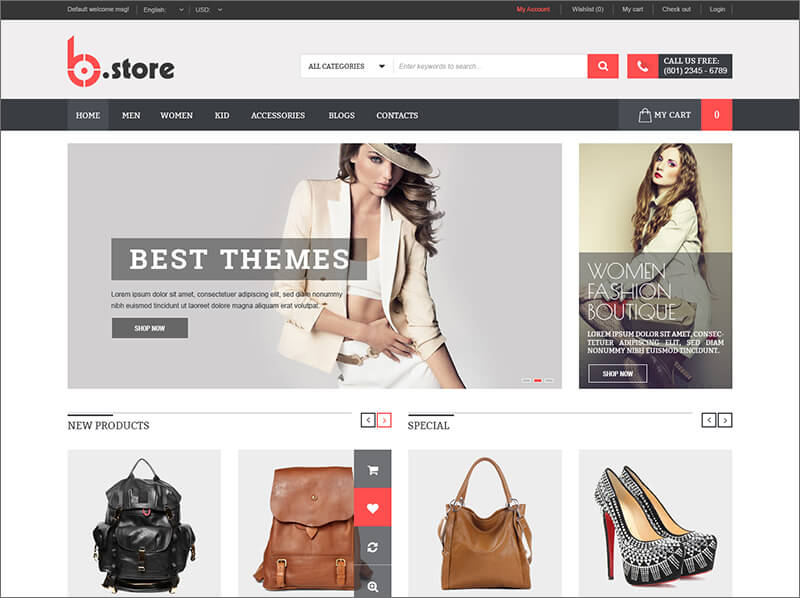 Fully Fashion Responsive Magento Template
