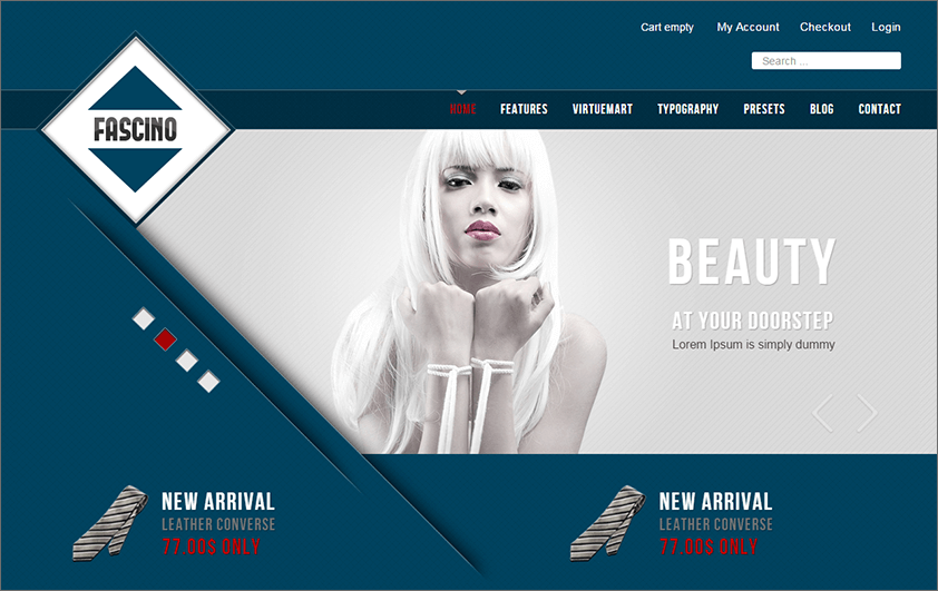 Fully Responsive Fashion VirtueMart Template