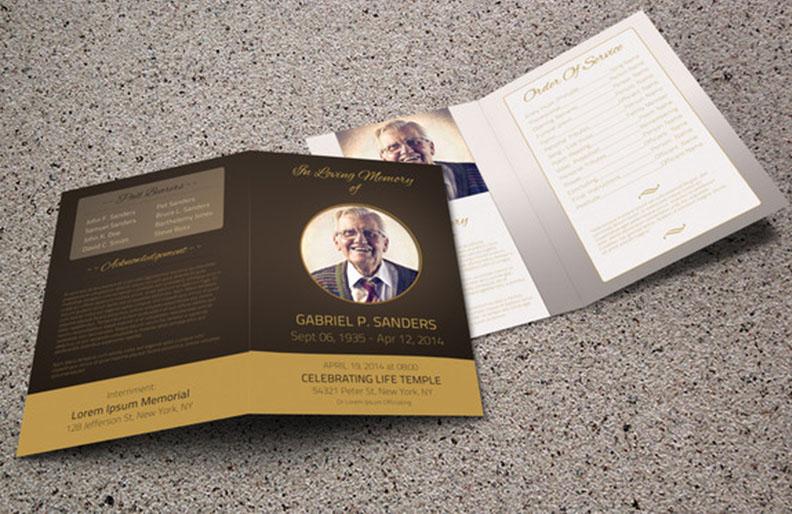 Funeral Program Template Bi-Fold