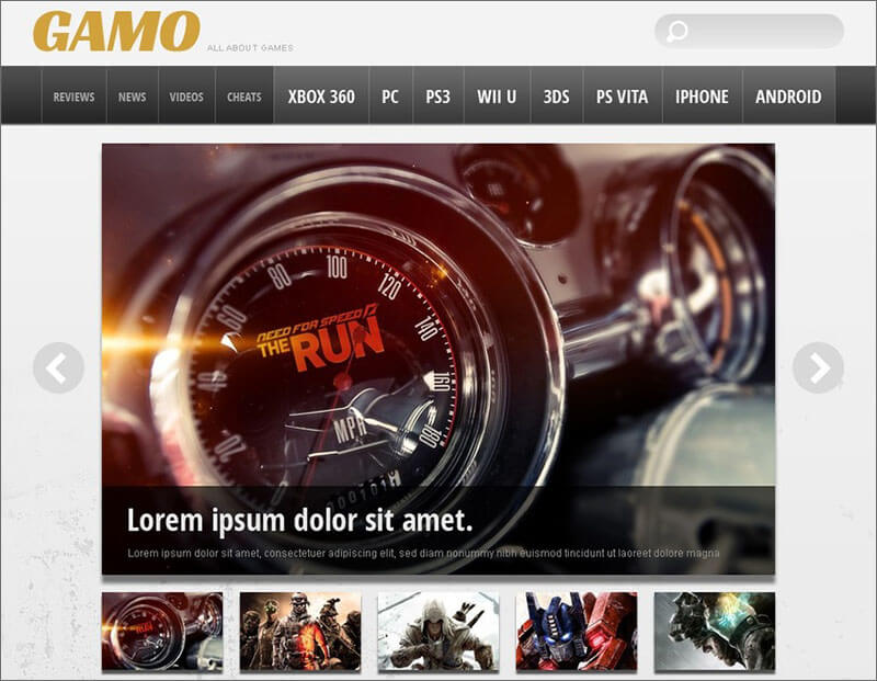 16+ Best Gaming HTML5 Templates Free Website Themes