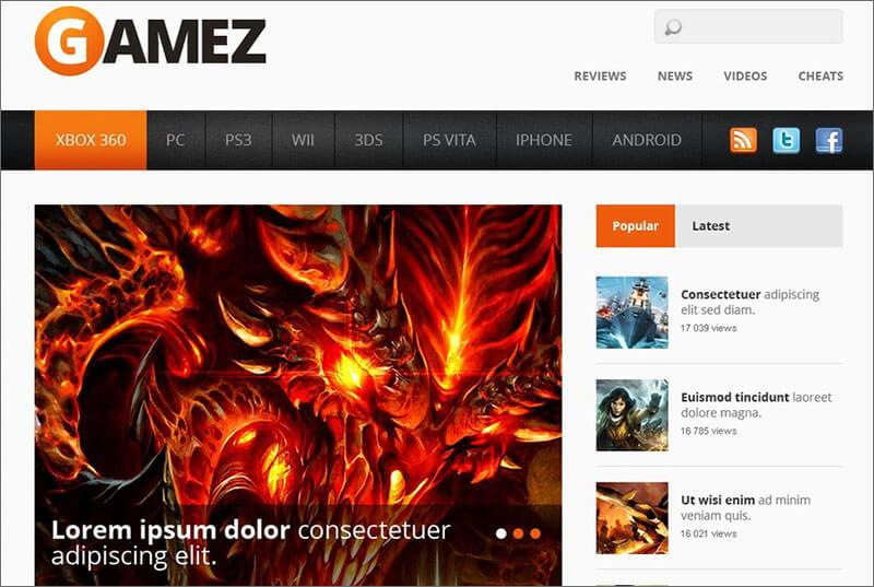 Gaming Portal HTML Template