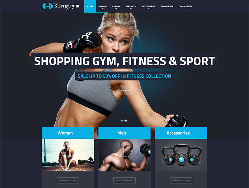 Gym & Sport Magento Theme