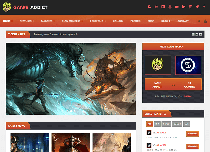 HTML Theme For Clans & Gaming