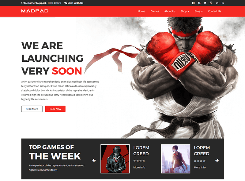 HTML5 & CSS3 Gaming Template