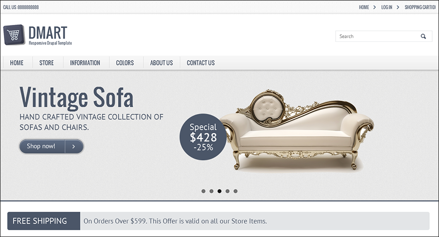 HTML5 Drupal Commerce Theme