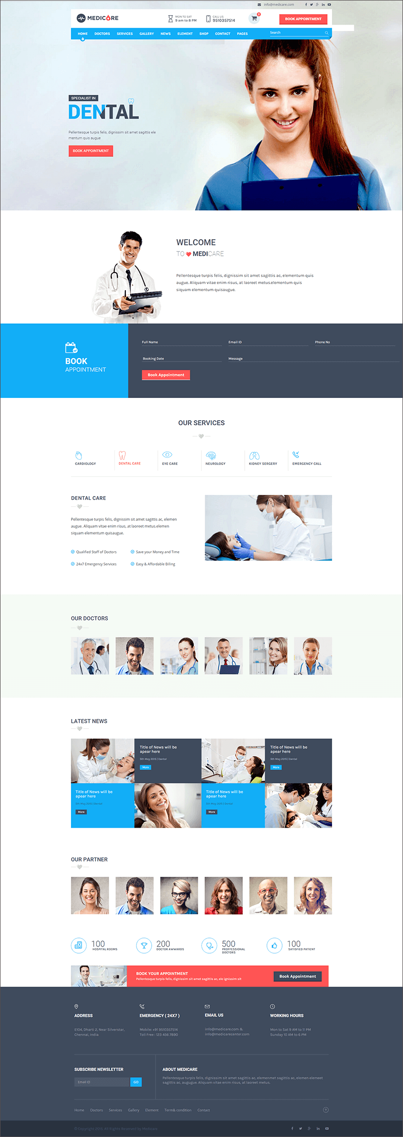 Health HTML & PHP Template