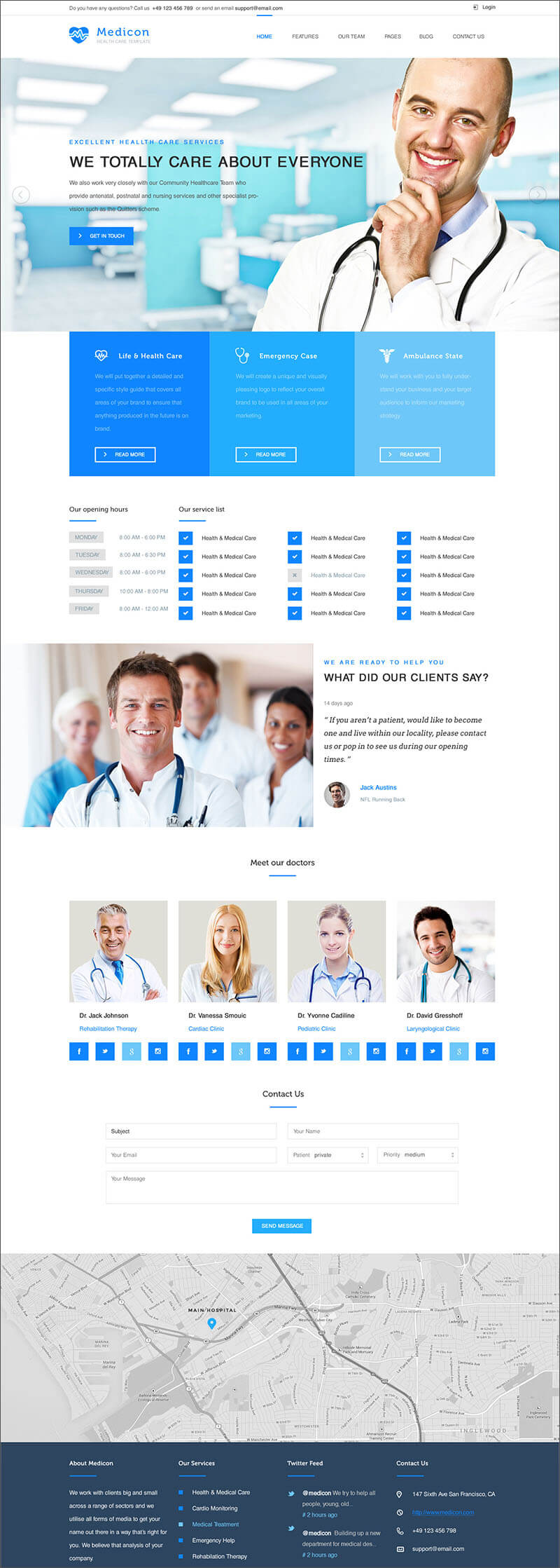 Health & Medical PHP Template