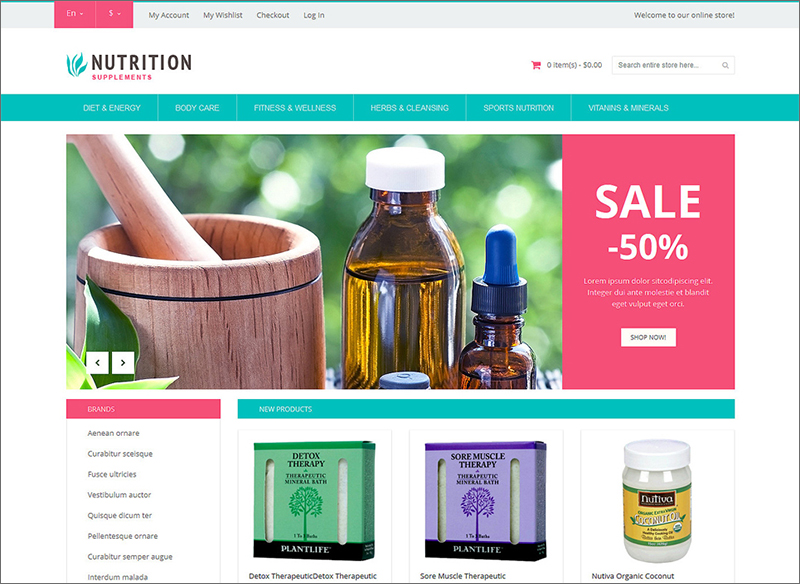 Healthy Life Supplements Magento Theme