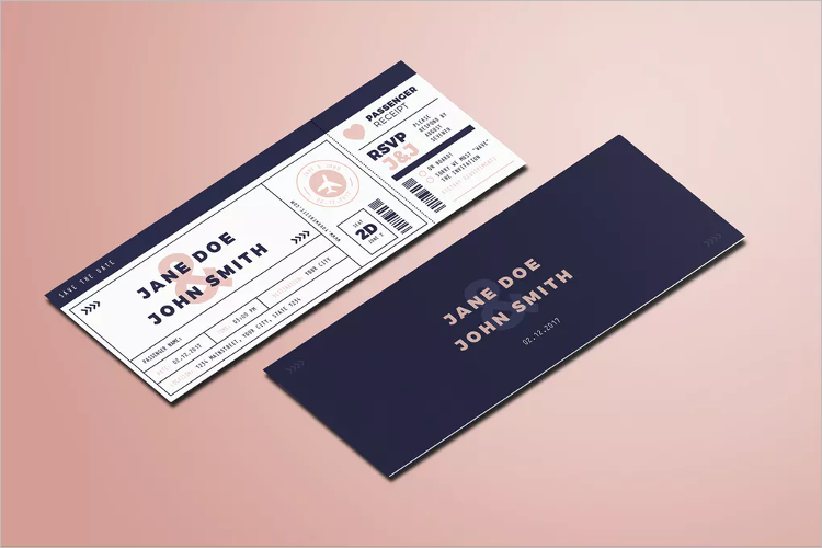 High Quality Boarding Pass Invitation Template