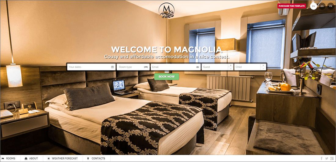 Hotel PHP Template With Booking
