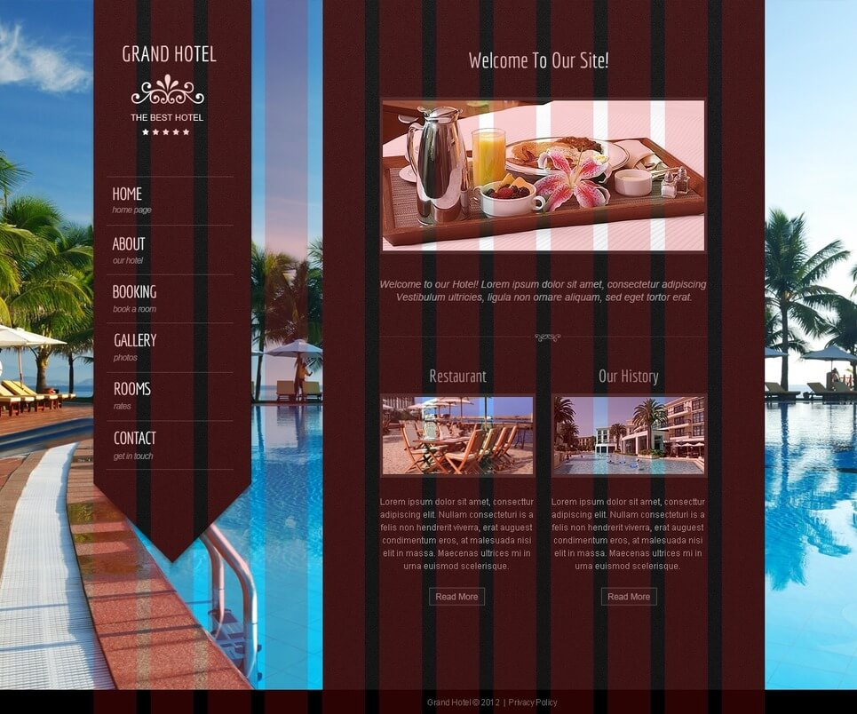 Hotel PHP Website Template