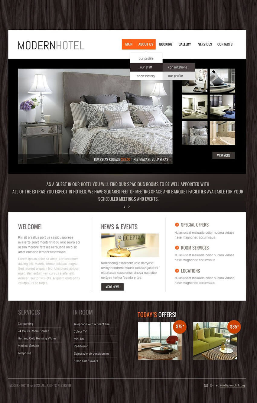 Hotel PHP Website Theme