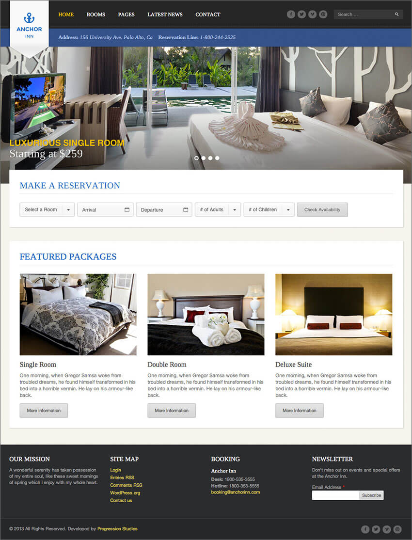 Hotel & Resort Site PHP Template