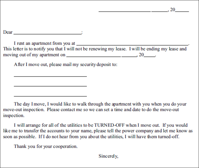 Lease Termination Letter Template - Free Word, Pdf Documents