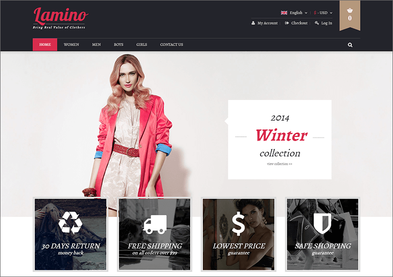 Magento Fashion Theme With Unlimited Colors