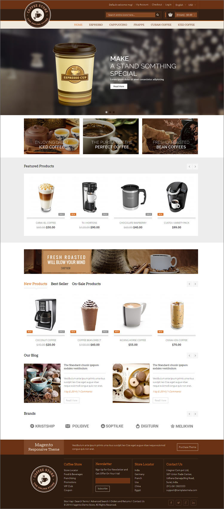 Magento Responsive Coffee Theme