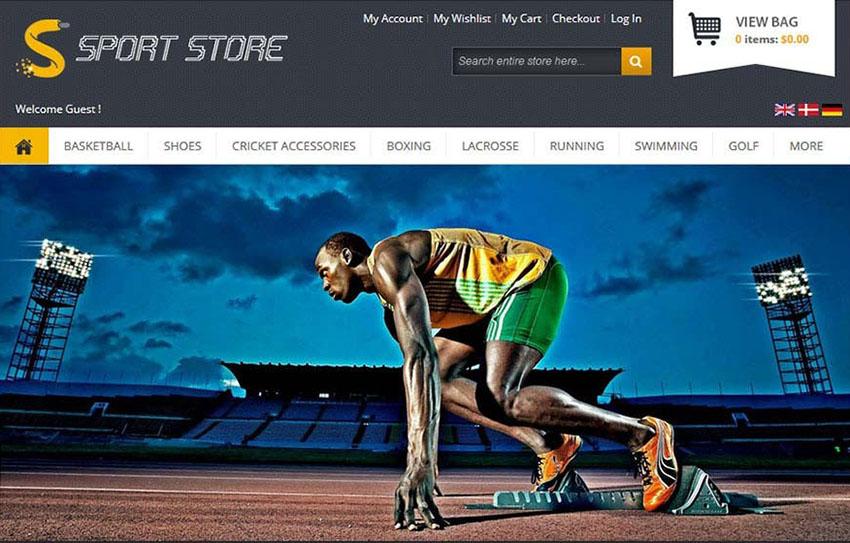Magento Sports Store Theme