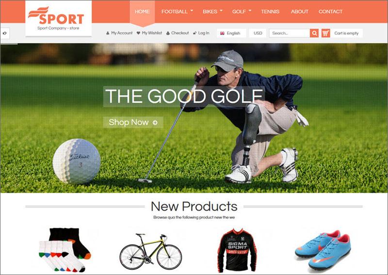 Magento Sports Theme
