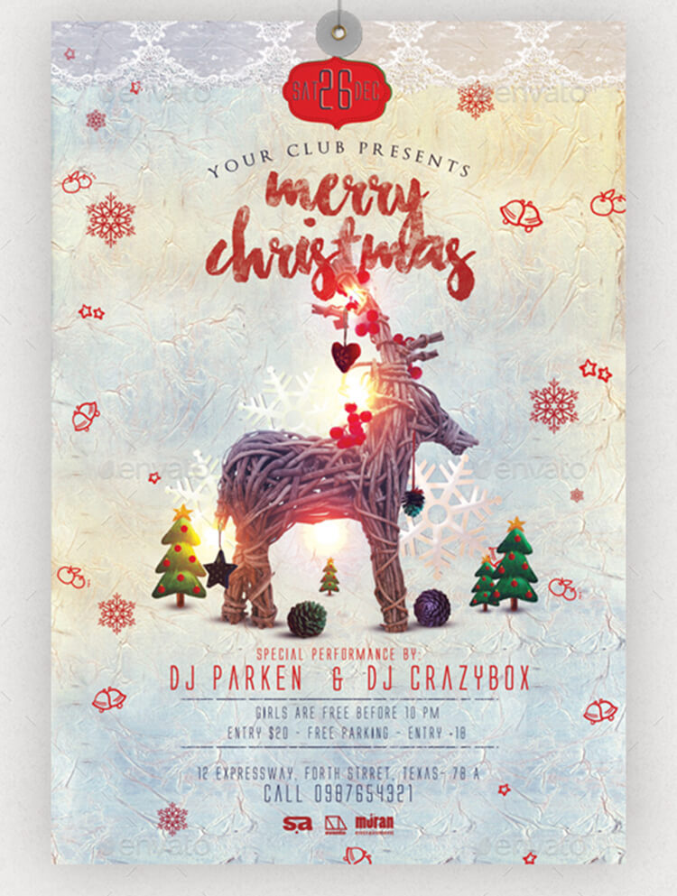 free christmas brochure templates - christmas party flyer templates psd designs free premium