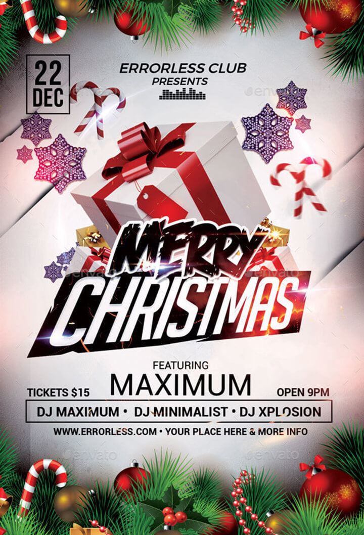 Christmas Party Flyer.Christmas Party Flyer Templates Psd Designs Free Premium