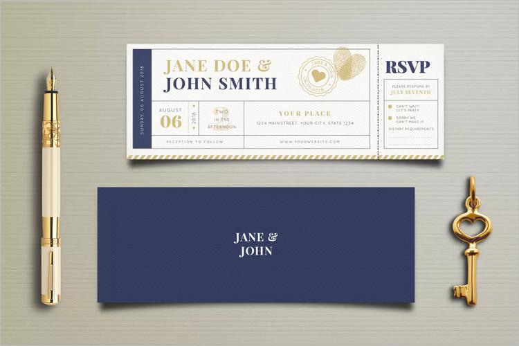 Minimalist Boarding Pass Invitation Template