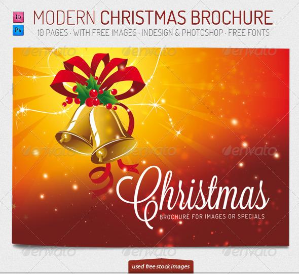 Modern Christmas Brochure Template