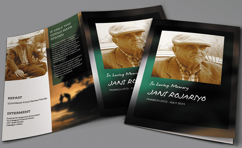Obituary Template – Free Pdf, Psd Format Download | Creative Template