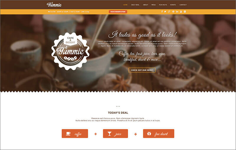 One Page Animated HTML Template