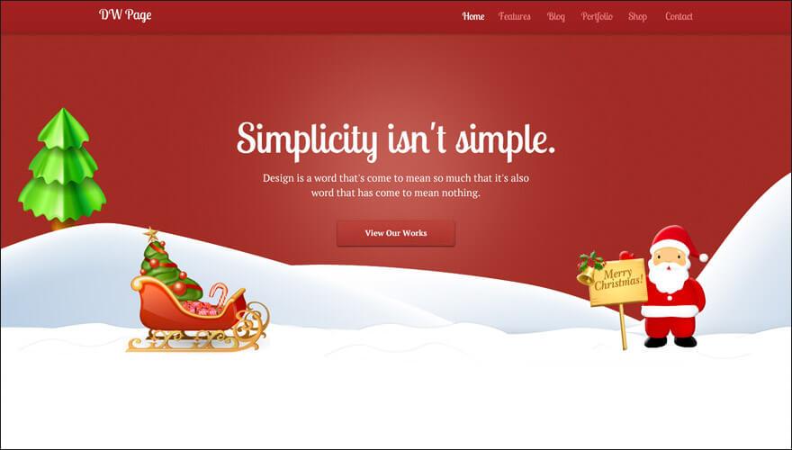 One Page Christmas WordPress Theme