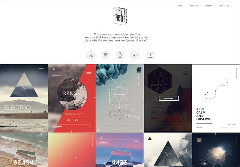 One Page HTML5 & CSS3 Template
