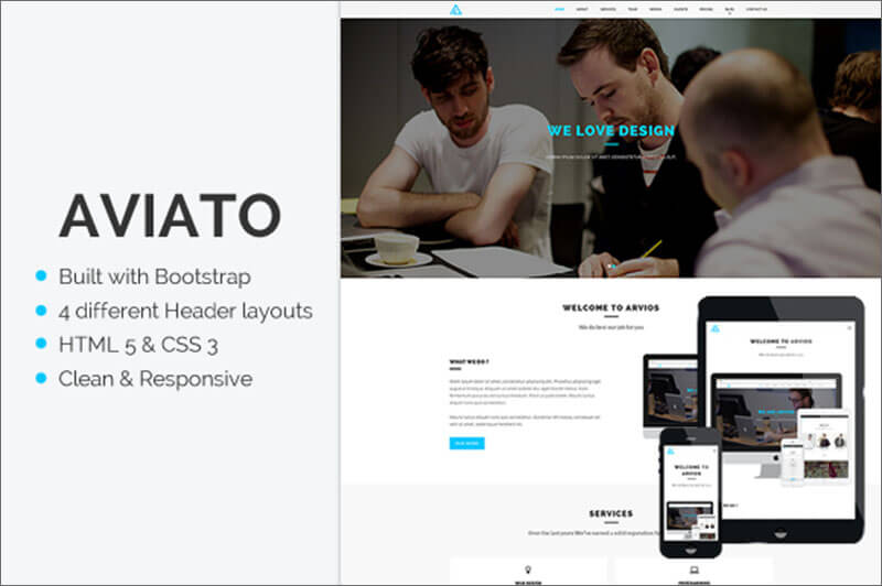 Onepage HTML Animated Template