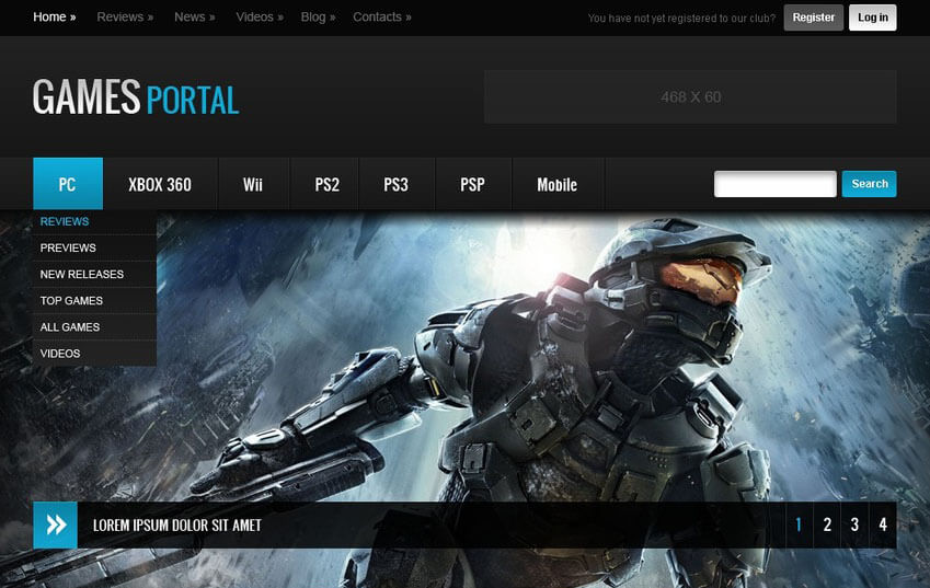 Online Game Portal HTML Template