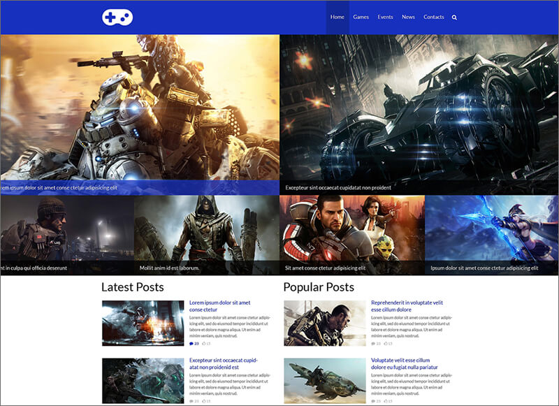 Online Game Portal Website Template