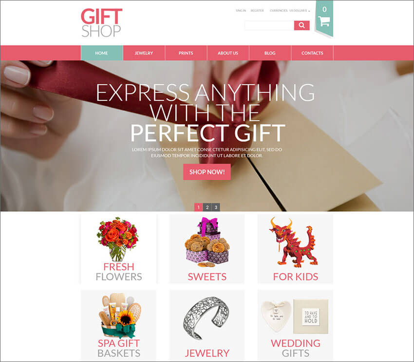 Online Gifts Shop VirtueMart Template