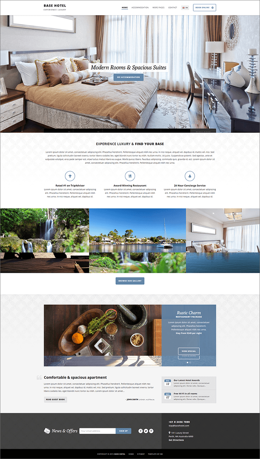 PHP Hotel Template