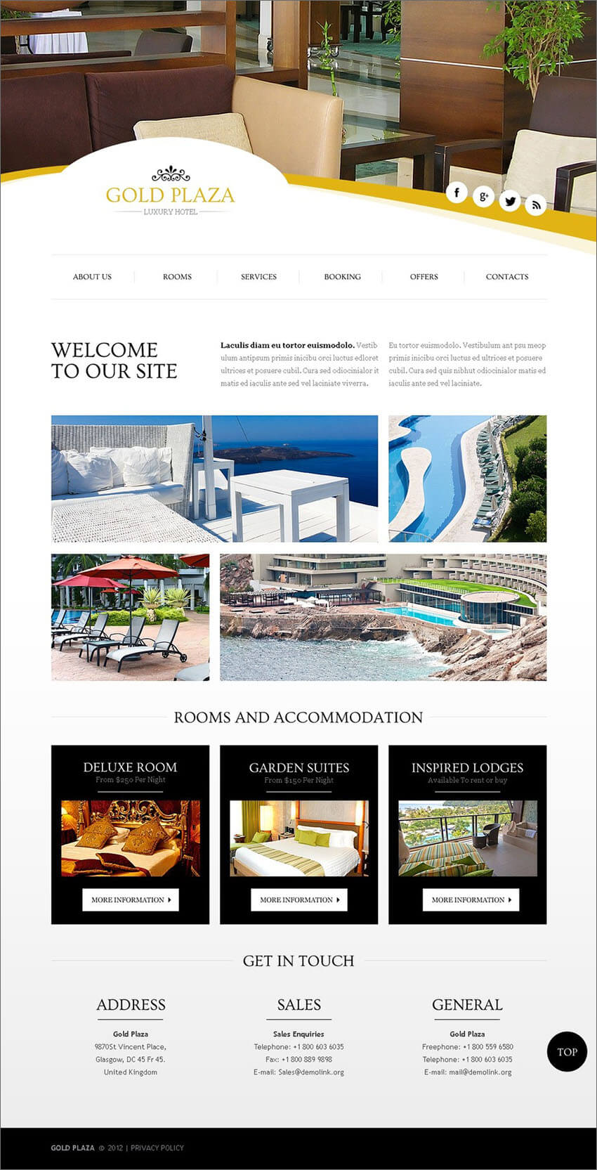 PHP Hotels Website Template