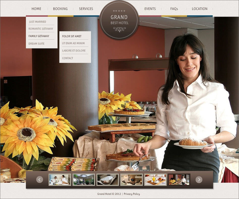 PHP Website Template For Hotels