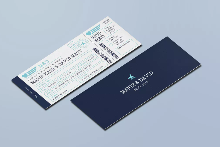PSD Boarding Pass Invitation Template
