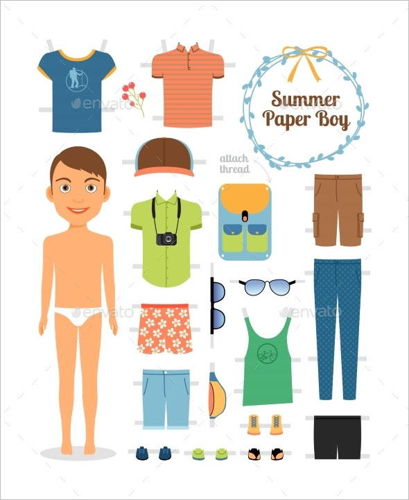PSD Paper Doll Templates