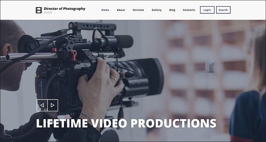 Photography Director Drupal HTML Template
