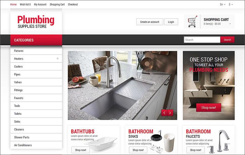 Plumbing Service OpenCart Template