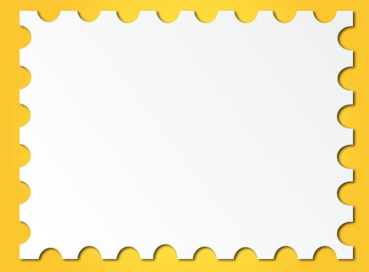 Post Stamp Frame