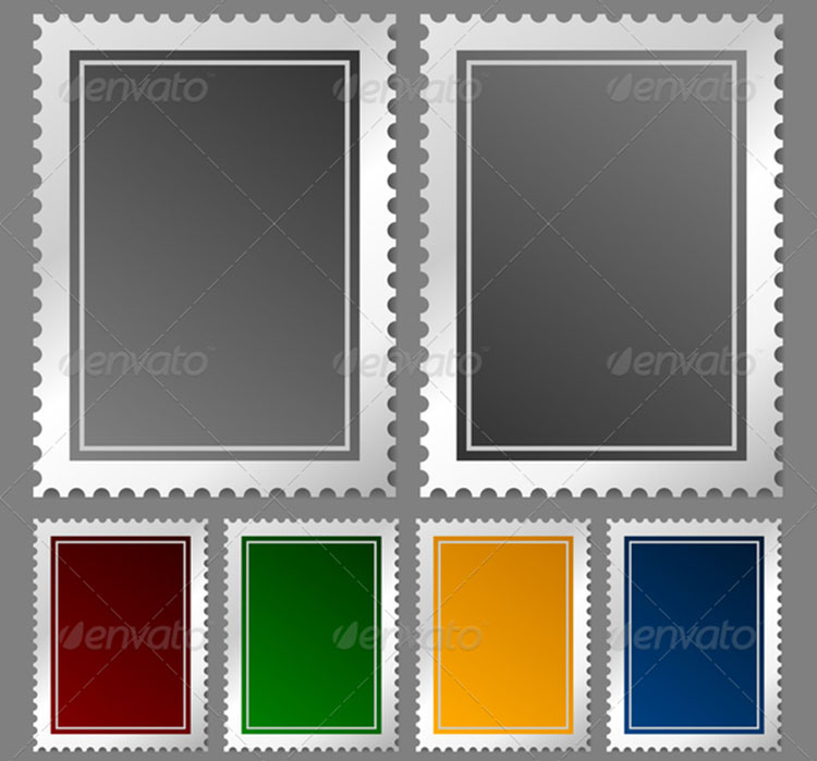 Postage Stamp Frame Template