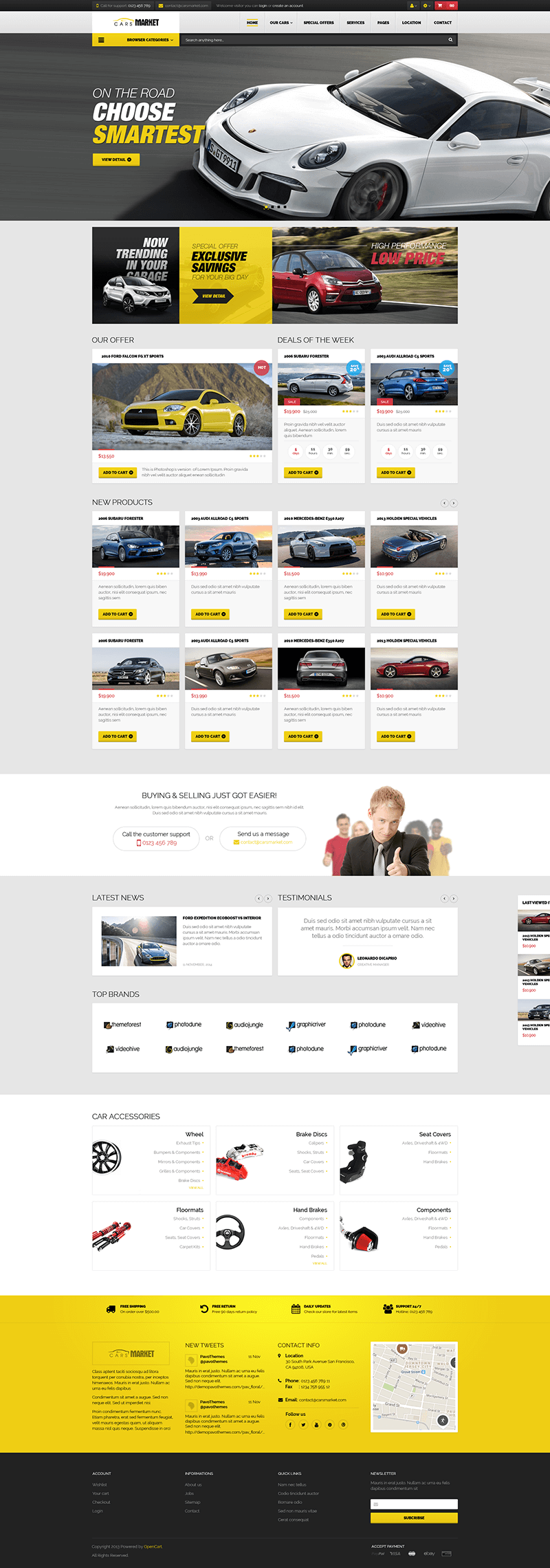 PrestaShop Car Market Template