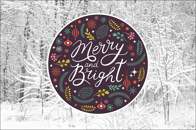 Printable Christmas Lettering & Cards