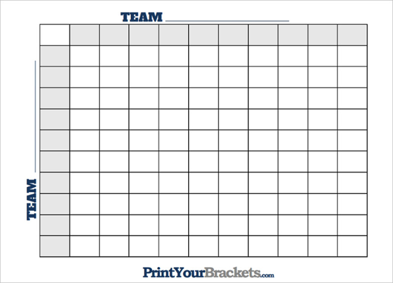 Printable Football Square Templates Pdf – Foot Ball Square Template