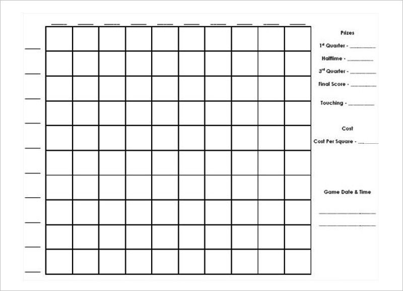 Search results for blank football board template for Block pool template