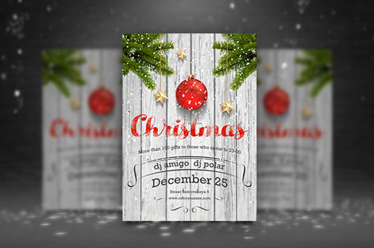 Pritable Merry Christmas Party Template